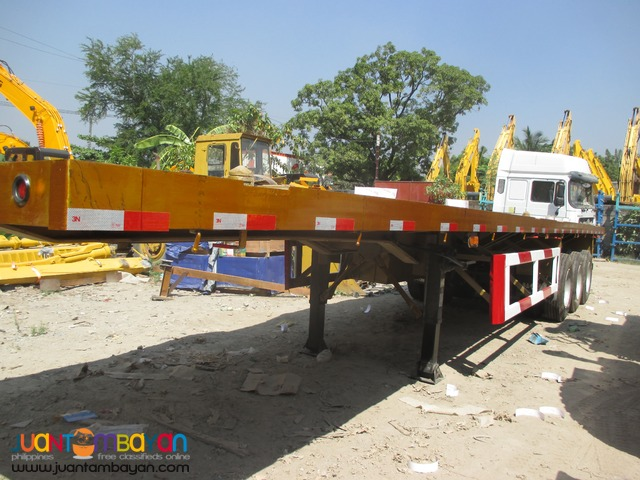 Tri-Axle Lowbed Semi-Trailer 60Tons Capacity