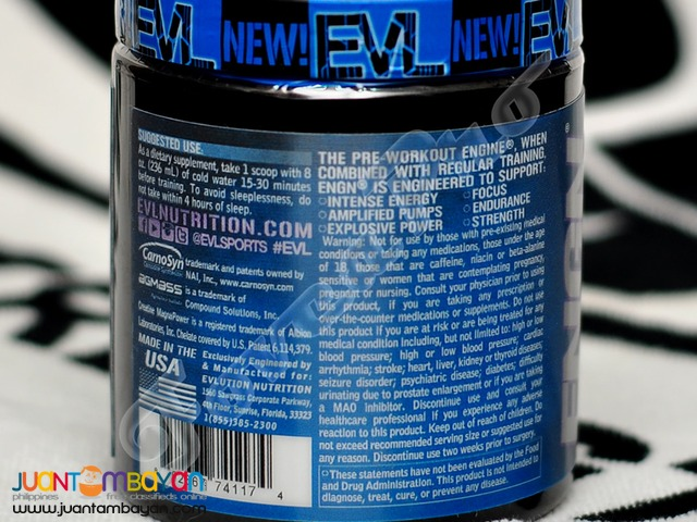 Evlution ENGN, 30 servings Furious Grape (Free Shipping) Pre-Workout