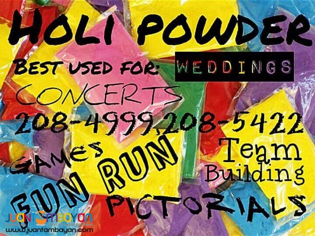 colored holi powder