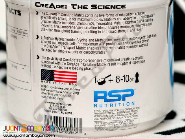 SALE - RSP CreAde, 100 servings Fruit Punch (Free Shipping) Creatine