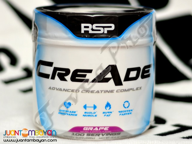 SALE - RSP CreAde, 100 servings Grape (Free Shipping) Creatine Complex