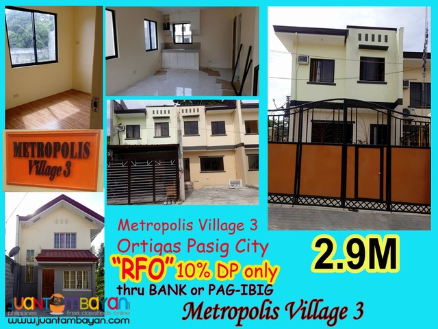 Pasig City & Cainta House for Sale Ready for Occupancy Birmingham
