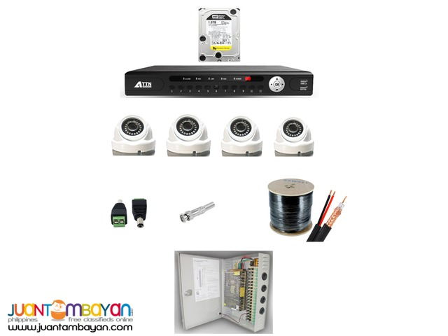 CCTV Camera-Recorder w/ 1TB HDD & Centralized Power Supply