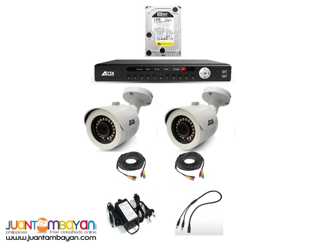 CCTV Package- 2 Bullet 1.0mp Outdoor Type
