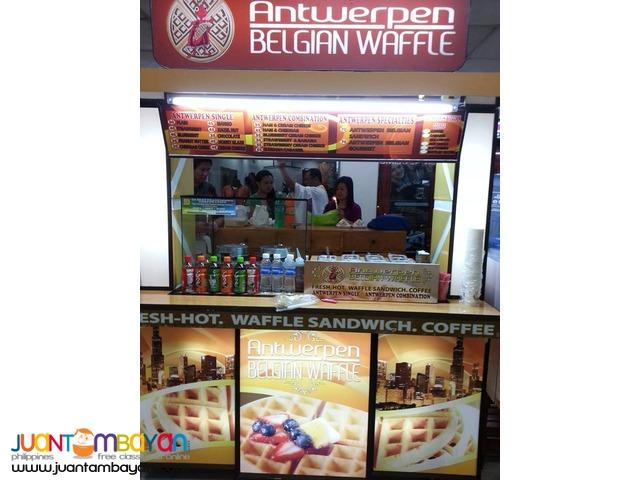 ANTWERPEN BELGIAN WAFFLE FOODCART BUSINESS FRANCHISE