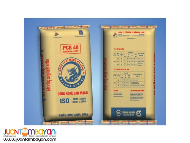 Pure Cement, No Extenders! Choose Ha Long Cement!!