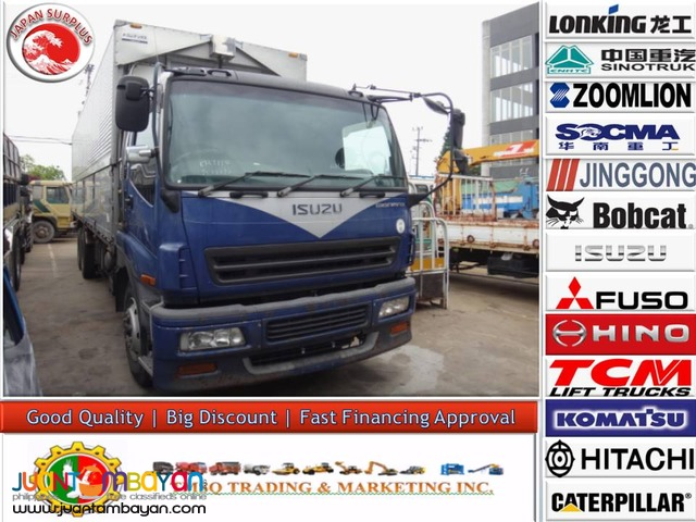 Japan Surplus ISUZU 10 Wheeler Wing Van Giga 6WF1