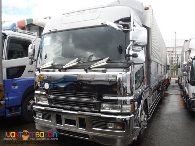 Fuso Shiny White 6D40 10Wheeler Wing Van  Japan Surplus