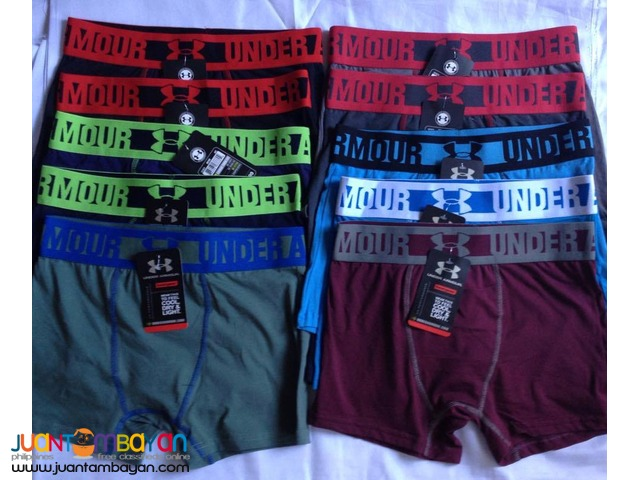 Overrun Branded Boxer Briefs with tag and label