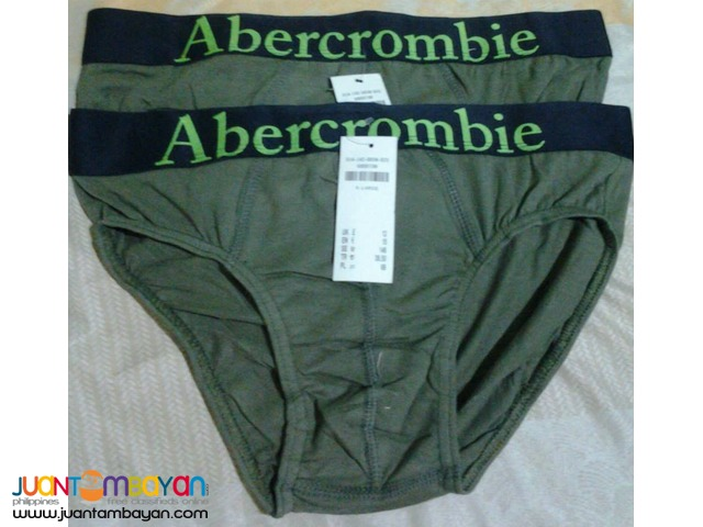 Overrun Branded Briefs with tag and label