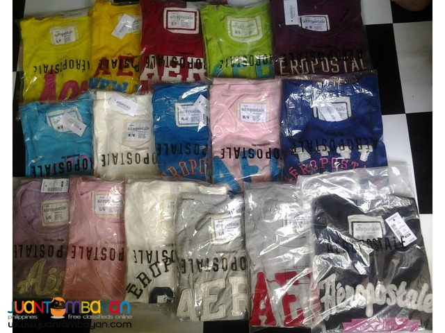 Overrun Abercrombie Aeropostale Hollister shirts  wholesale and retail