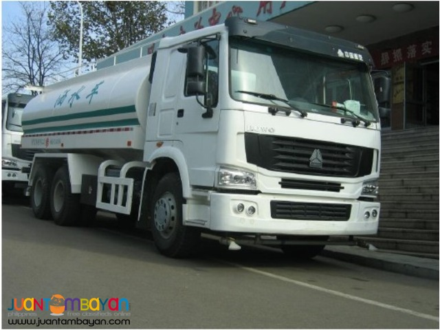 10 Wheeler HOWO Water Truck, 371HP,20KL