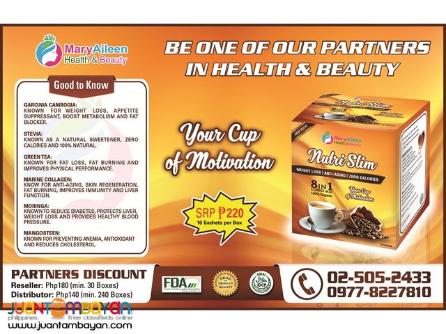 Looking for Reseller and Distributor for NutriSlim Coffee Mix