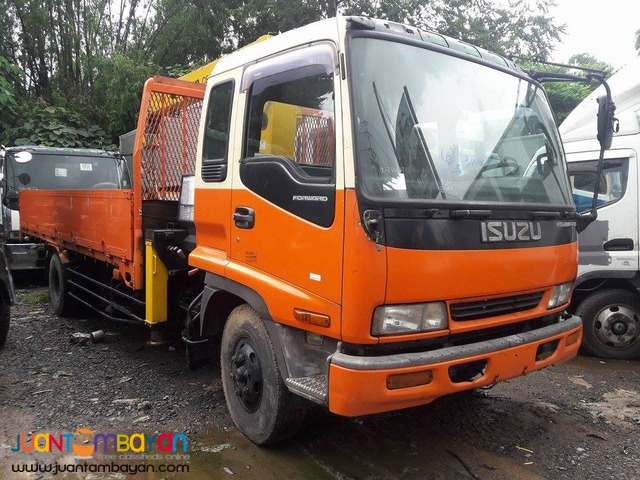 Isuzu Forward 6W Boom Truck with 4.75 Crane Capacity