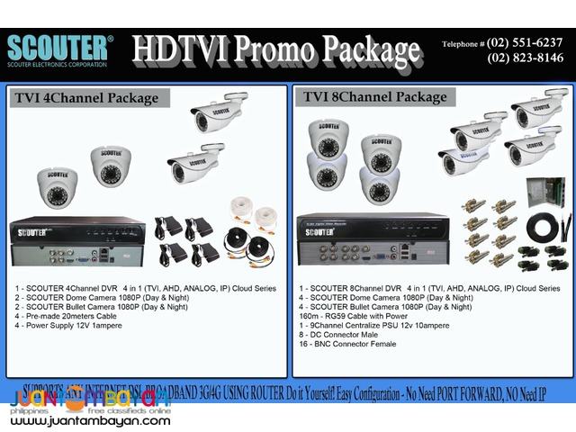HDTVI package 2megapixel camera (1080P) -Scouter Electronics Corp