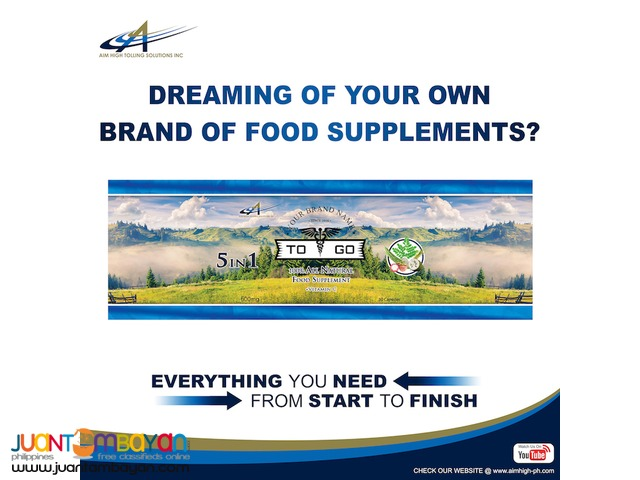 Private label your own brand of Food Supplements