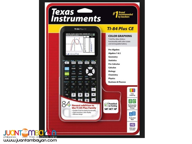 BRAND NEW - TEXAS INSTRUMENTS TI 84 PLUS CE GRAPHING CALCULATOR