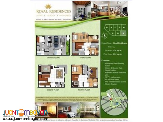 FOR SALE!!! Rosal Residences Townhomes in New Manila