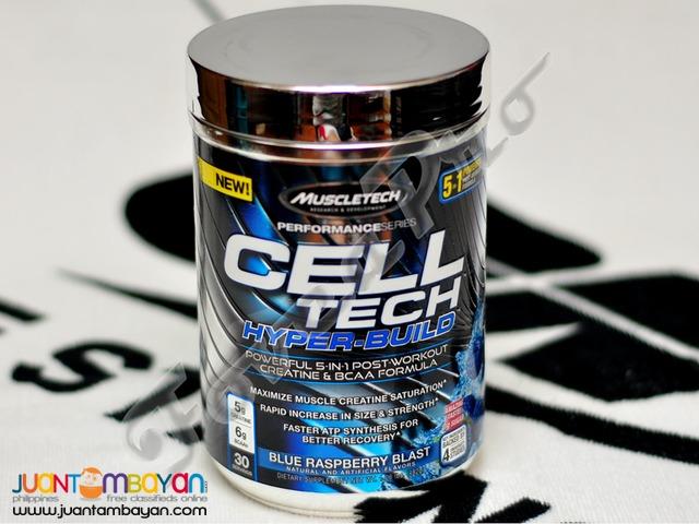 MuscleTech Cell Tech Hyper-Build, Blue Raspberry (Free Shipping)