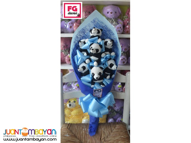 Panda Bear Bouquet - Flowers Gifts Delivery