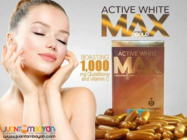ACTIVE WHITE MAX GLUTATHIONE BUY1-TAKE1 + FREE SHIPPING