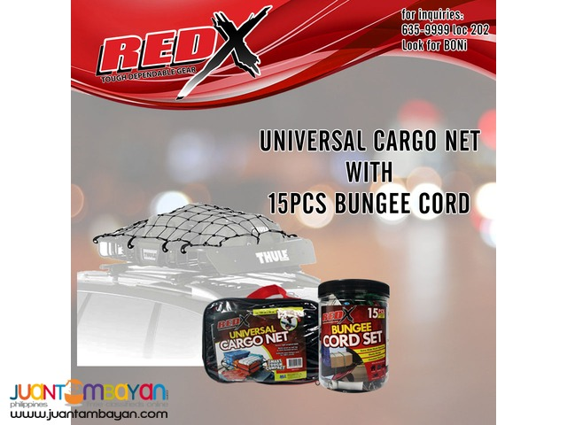 RedX Universal Cargo Net with 15pcs Bungee Cord