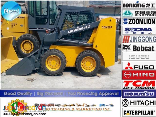 Lonking CDM307 Skid Loader 0.43m3 Capacity Brand New