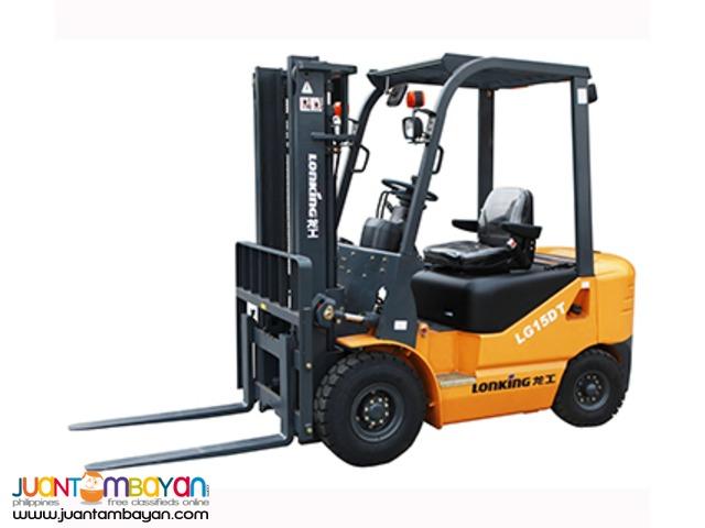 Lonking LG15DT 1.5Tons Diesel Forklift Brand New