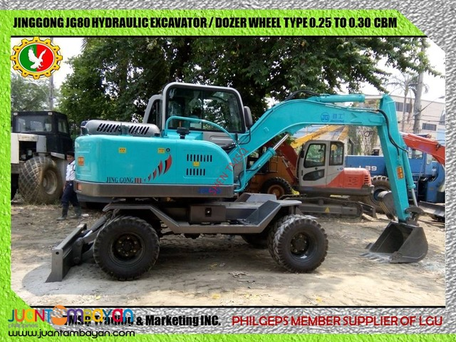 Brand New Jinggong JG80 Hydraulic Excavator Wheel and Chain Type