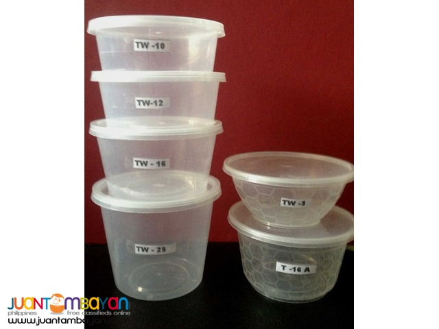 Microwaveable containers round (safe packs)