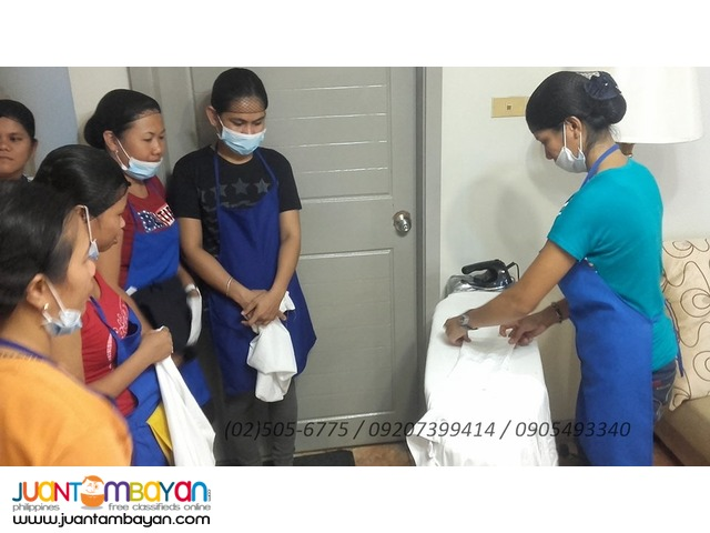 Domestic Work training with TESDA NCII Assessment