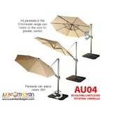 AU04 Revolving 360 degrees Cantilever Parasol Banana Umbrella