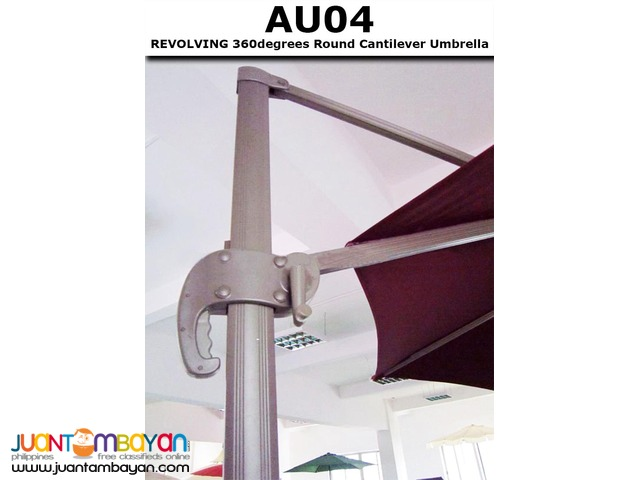 AU04 Revolving 360 degrees Cantilever Rotating Parasol Banana Umbrella