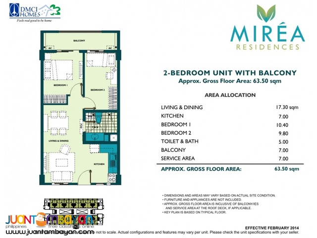 Condo in Pasig Mirea Residences Amang Rodriguez near Eastwood