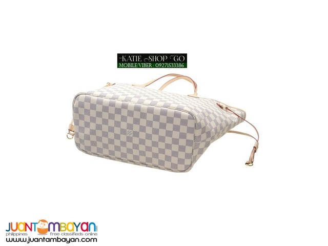 Louis Vuitton Damier Azur Neverfull MM w/ Pouch