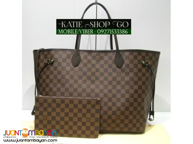 Louis Vuitton Damier Ebene Neverfull GM w/ Pouch