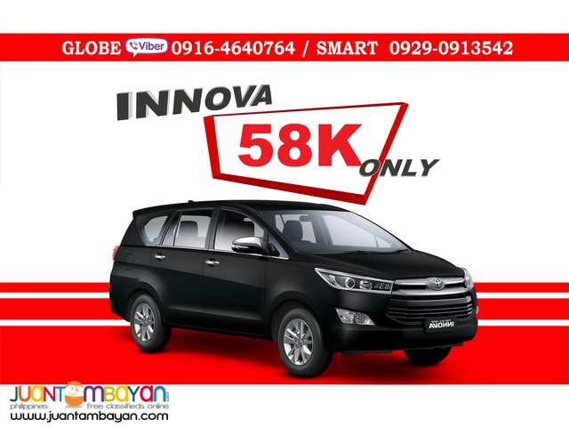 2016 Toyota Innova 2.8 G DSL AT Promo Automatic Diesel 58K All In