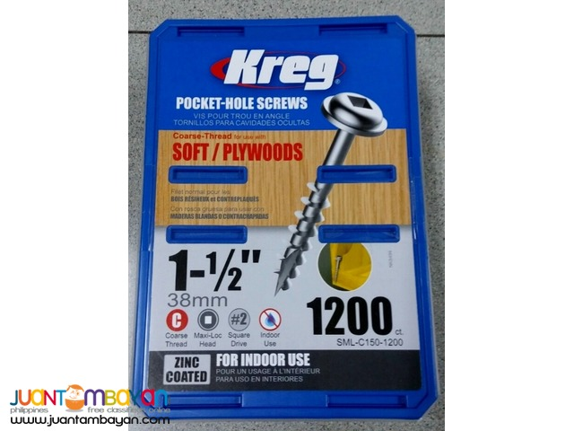 Kreg SML-C150 Coarse Screws 1.5