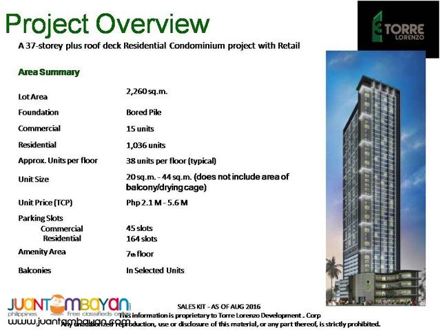3 Torre Lorenzo Pre-selling condo near CSB and St. Scho