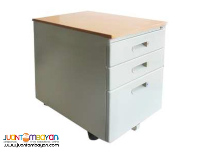 Mobile Cabinet, Wood Laminated Top