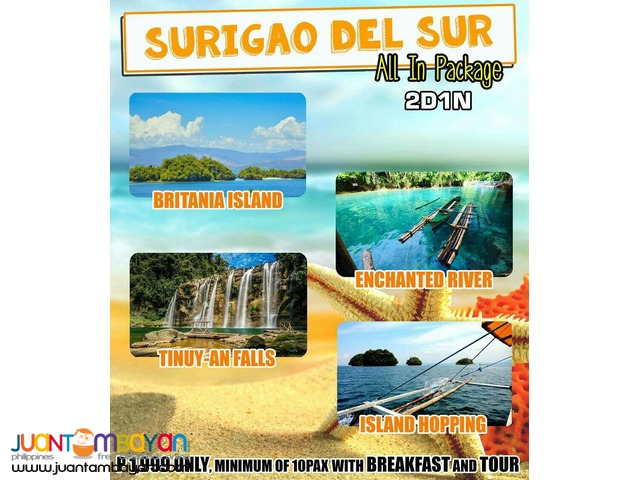 2 days 1 night Surigao del Sur CDO package tours