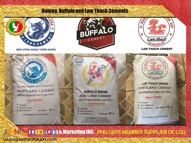 Buffalo, Halong and Lam Thach Cement For Sale 1200 Bag Minimum Order