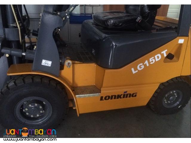 Brand New LONKING LG15DT FORKLIFT
