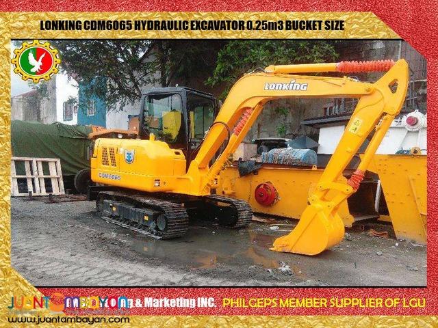 BRAND NEW CDM6065 Hydraulic Excavator .25m3 Bucket Size
