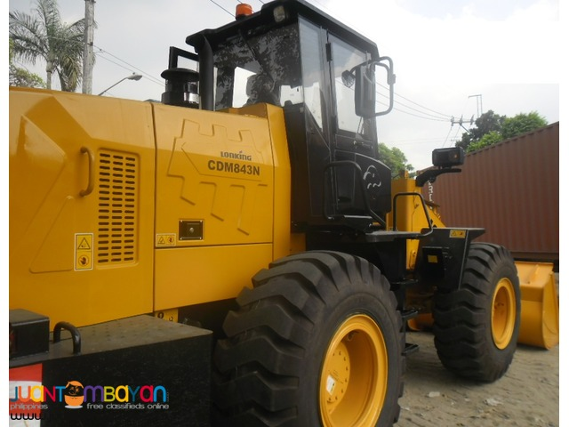 Lonking = CDM843N Wheel loader = Lowest Price
