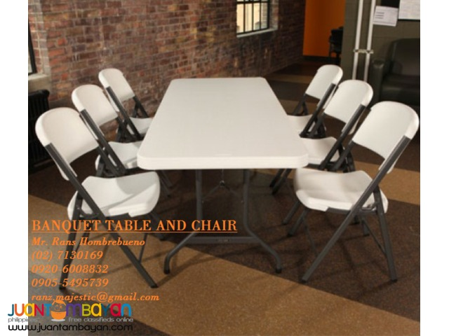 TABLES AND CHAIRS/BAR STOOL FOR RENT
