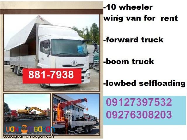 Forward Truck For Rent 10 Wheeler Wing Van For Rent