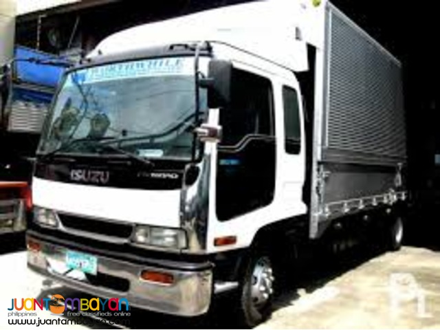10 wheeler truck wing van for rent