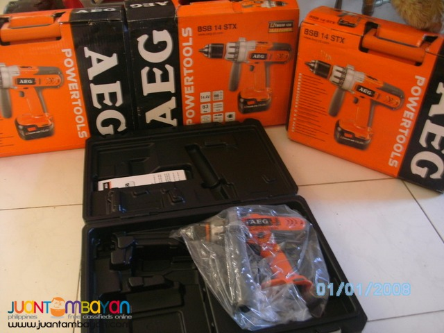 AEG cordless hammer drill unit only brandnew