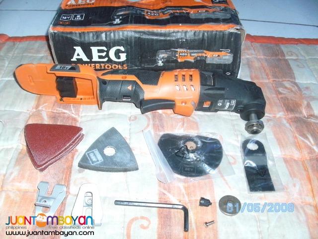 AEG cordless 18v multi tool kit unit only brandnew